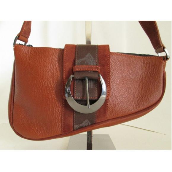 ce36817d0f6 Versace Sport Brown Medusa Leather Saddle Bag. M 5b6b7582c89e1d51fab47339
